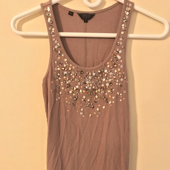 GUESS tank S w Sequins